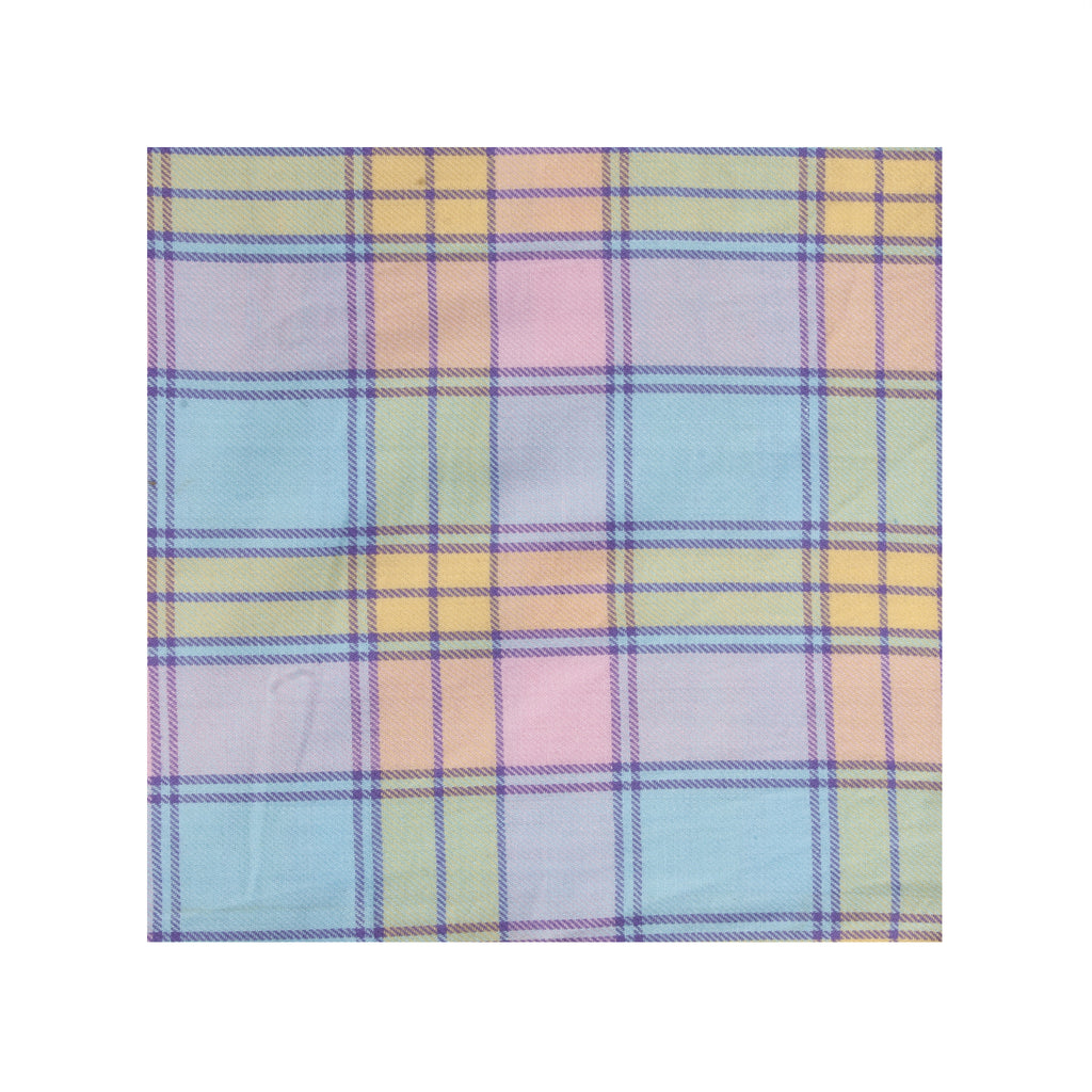 Warm Weather Plaid Pocket Square
