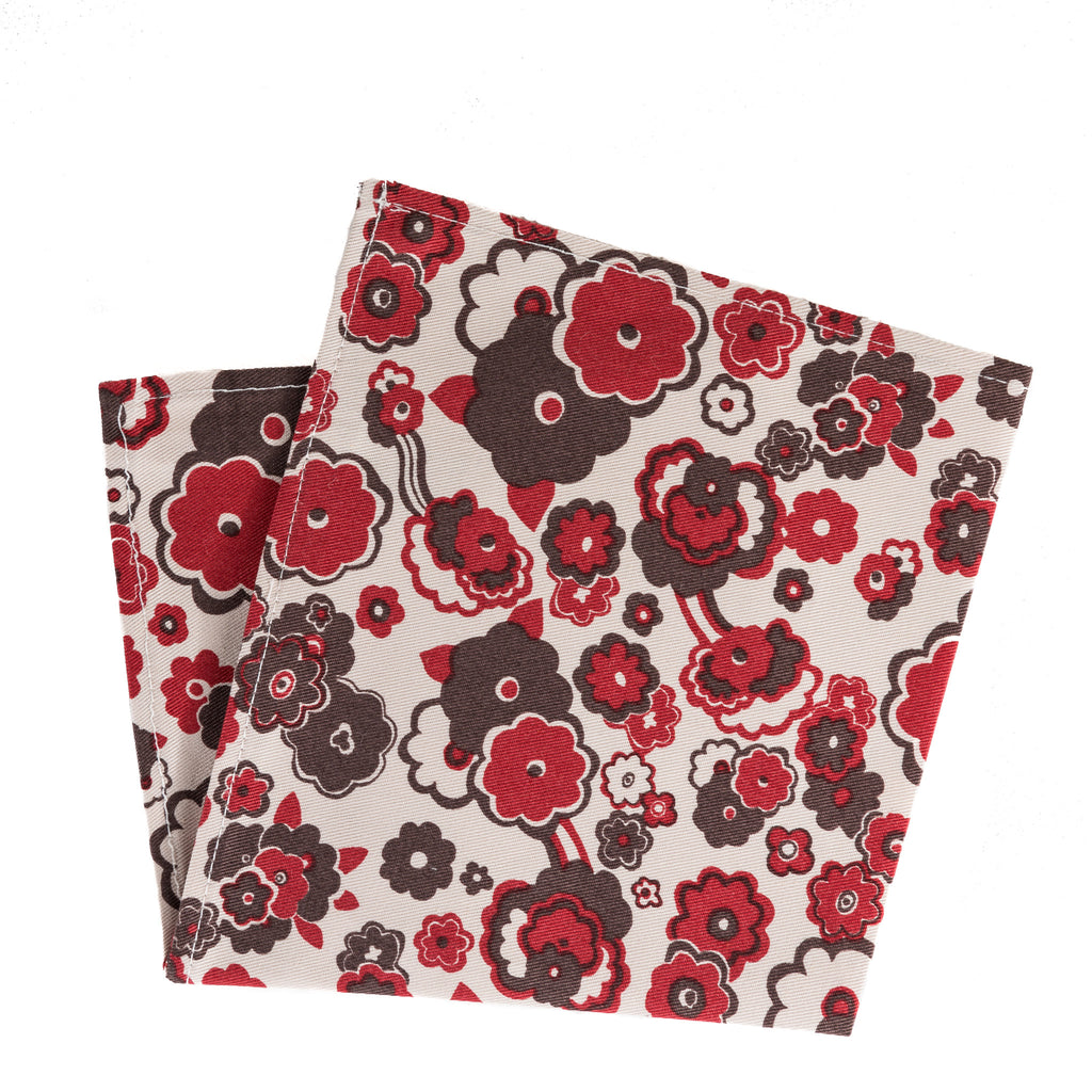 Summer Floral Twill Pocket Square
