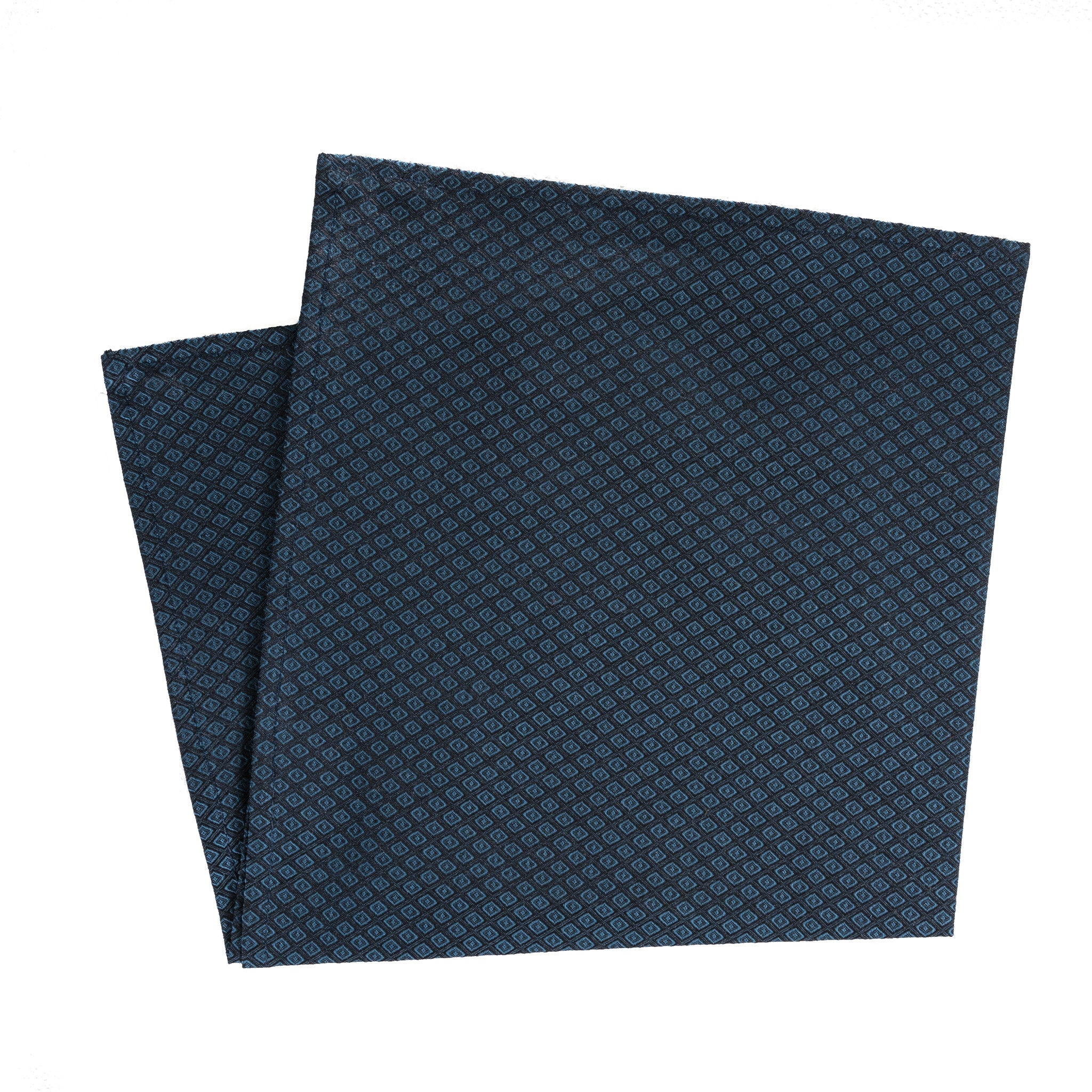Dot-in-Diamond Grid Pocket Square (additional colors available)