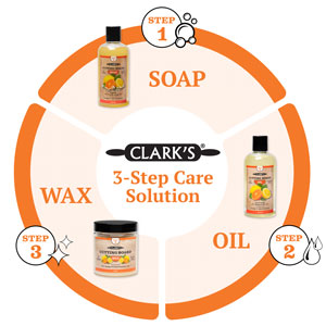 Learn more about Clark's 3 step cutting board care solution