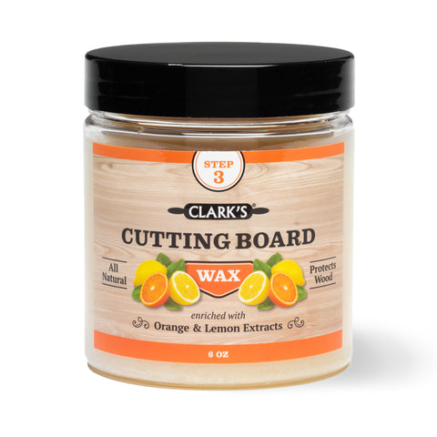 CLARK'S Cutting Board Finish Wax & Conditioner 6oz | Orange & Lemon Scent