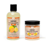 CLARK'S Cutting Board Oil & Finish - 2 Bottle Set | Lemon & Orange Scent