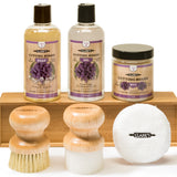CLARK'S Complete Care Kit (Soap, Oil, Wax, Applicator, Brush, Finishing Pad | Lavender & Rosemary Scent