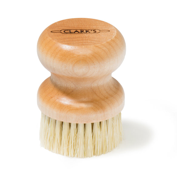 CLARK'S Small Scrub Brush - Tampico Fibers & Maple Hardwood