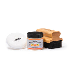 CLARK'S Soapstone & Concrete Finishing Kit (Wax, Pad, Applicator)