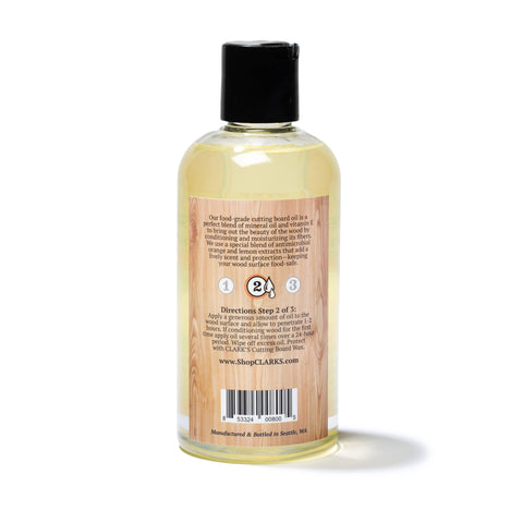 CLARK'S Cutting Board Oil 12oz | Lemon & Orange Scent