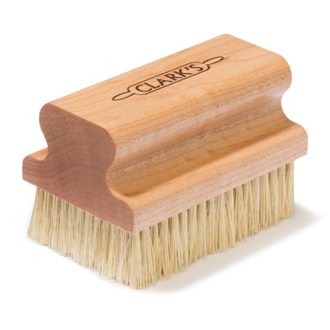CLARKS Large Cutting Board Scrub Brush | Maple Construction | Scrubber Brush for Cutting Boards, Butcher Blocks, Countertops and wood surfaces