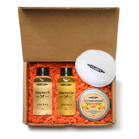 CLARK'S Complete Cutting Board Care GIFT Set! - Orange and Lemon Scent