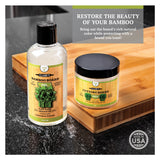 CLARK'S Bamboo Cutting Board Oil and Wax (Convenient 2 Pack)