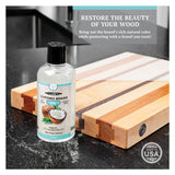 CLARK'S Coconut Cutting Board Oil - Highly Refined Coconut Oil