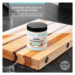 CLARK'S Coconut Cutting Board Wax - With Carnauba and Beeswax