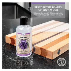 CLARK'S Complete Cutting Board Care Kit - Lavender & Rosemary