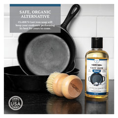CLARK'S Cast Iron Soap - Castile Based and 100% Earth-Friendly