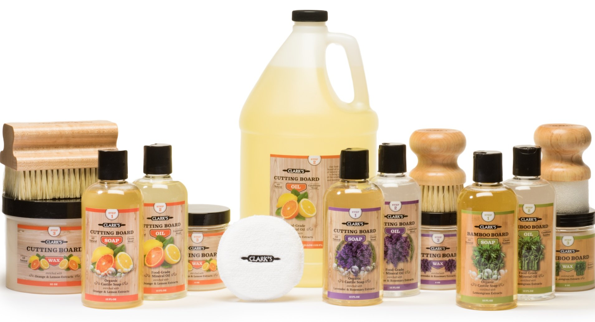 CLARKS Cutting Board Oil, Wax and Soap Products