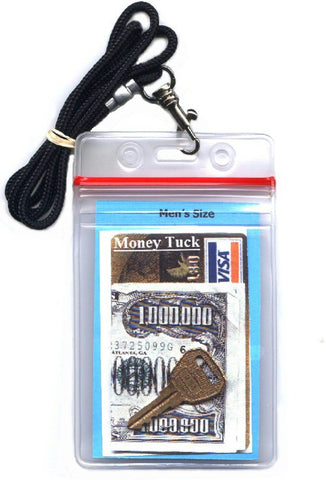 men's size money tuck ID holder