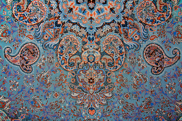 Paisley patterns on Persian Termeh