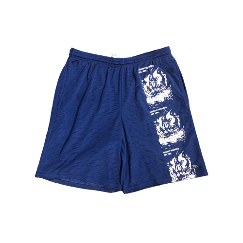 Car Crash Mesh Shorts - Navy