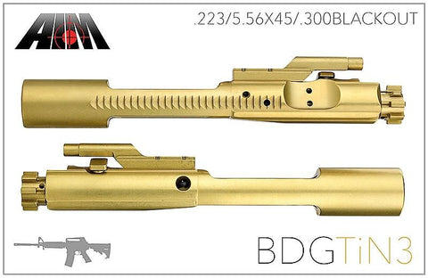 AIM TiN Titanium Nitride Bolt Carrier Group 5.56