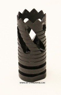 Alpha Spiral Phantom Black Flash Hider - Sunny State Outdoors