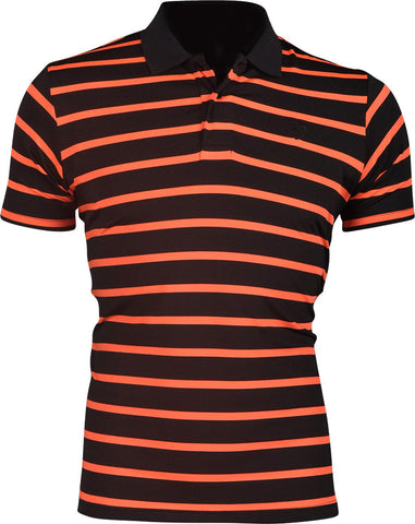 jeansian Men's Breathable Quick Dry Striped POLO T-Shirts Tees LSL165