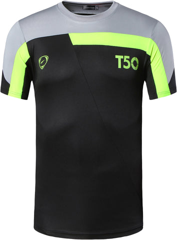 jeansian Men's Outdoor Sport Quick Dry Short Sleeved T-Shirt LSL135