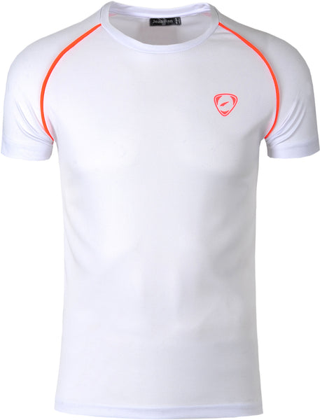 Jeansian Men's Sport Quick Dry Short Sleeve T-Shirt LSL182