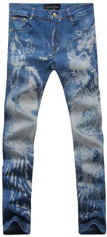 Jeansian Men's Fashion Causal Pants Jeans MJB007