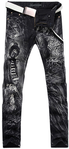 Jeansian Men's Fashion Causal Pants Jeans MJB014