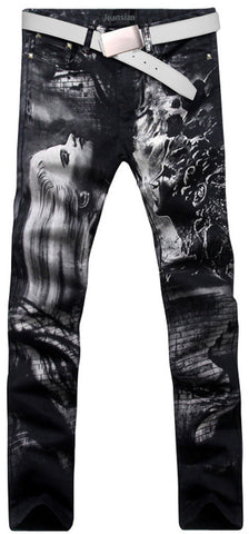 Jeansian Men's Fashion Causal Pants Jeans MJB024