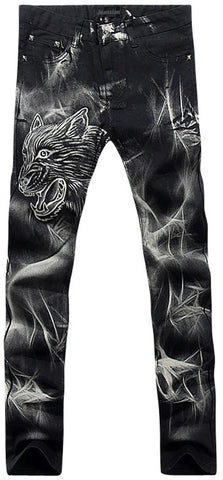 Jeansian Men's Fashion Causal Pants Jeans MJB027