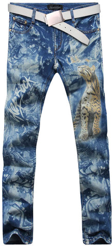 Jeansian Men's Fashion Causal Pants Jeans MJB028