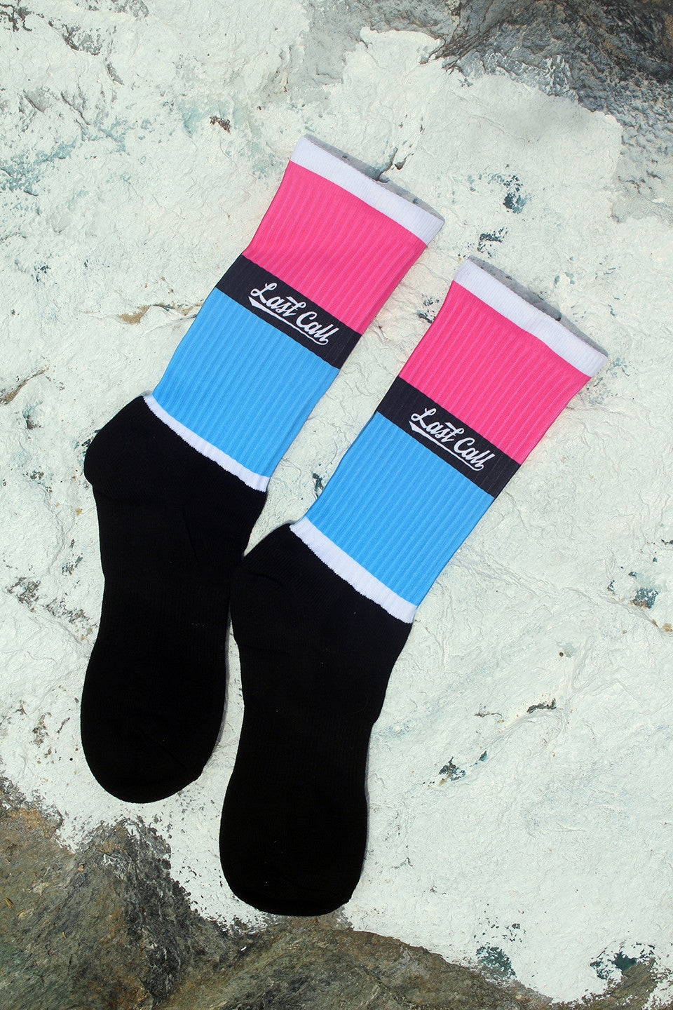 Pbb (Pink Black Blue) Socks