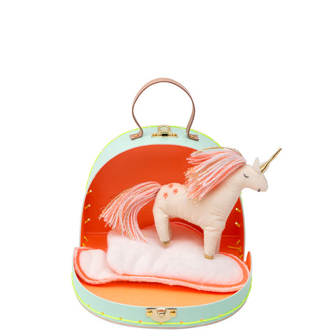 Unicorn Mini Suitcase Doll - Meri Meri