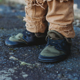 Olive Soft Sole Fold Over Boot