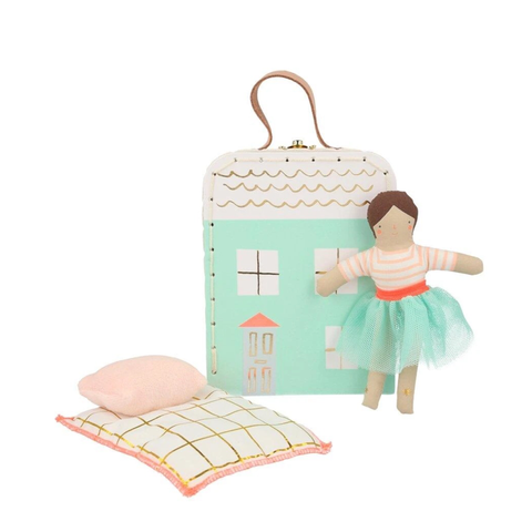 Lila Mini Suitcase Doll - Meri Meri