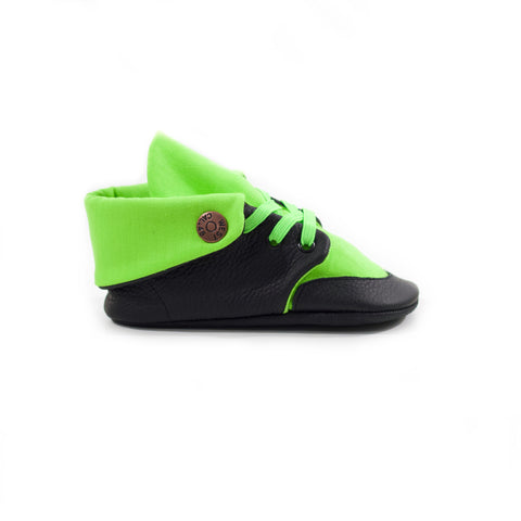Lime Soft Sole Fold Over Boot