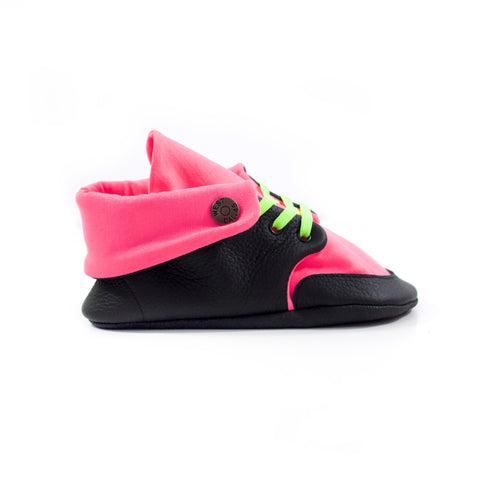 Neon Lights Soft Sole Fold Over Boot