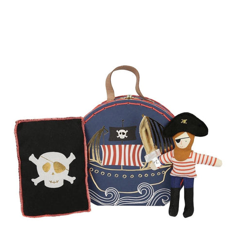 Pirate Mini Suitcase Doll - Meri Meri