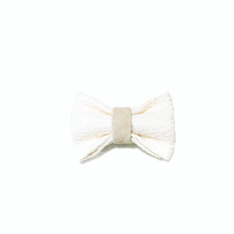 Doily Bow Tie & Hair Accessory