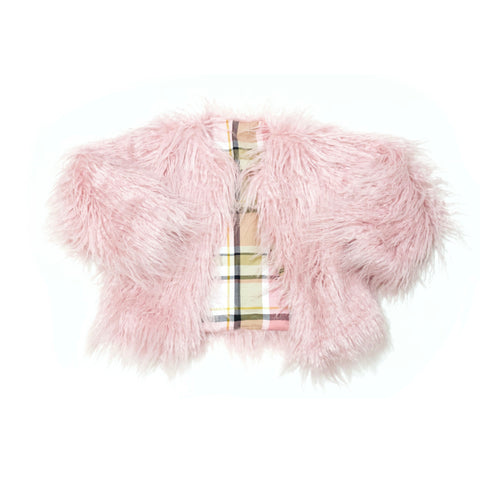 Blush Pink Faux Fur Coat