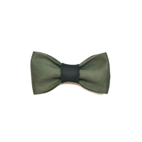 Olive Bow Tie & Hair Accessory