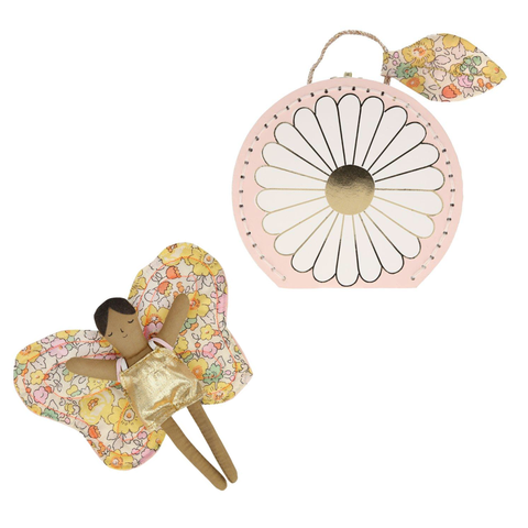 Butterfly Daisy Mini Suitcase Doll - Meri Meri