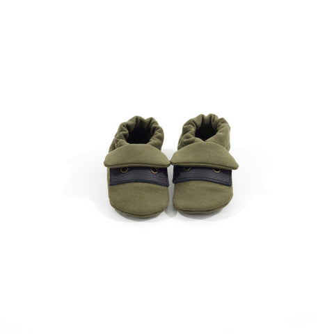 Olive Classic Fabric Sole Shoes