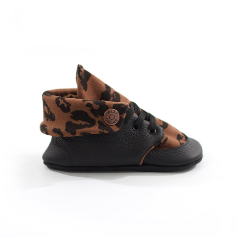 Leopard Soft Sole Fold Over Boot