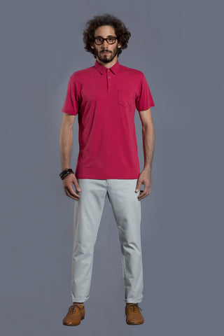 V Neck Red T Shirt