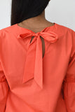 Retro Ruffle Sleeve Top
