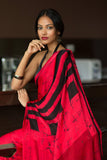 Batik Silk Saree - Raspberry Rush-Sold Out - Fashion Market.LK