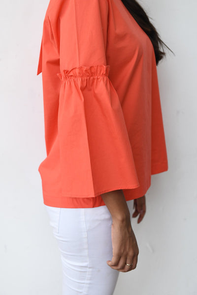 Retro Ruffle Sleeve Top V2
