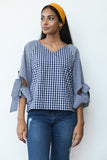 Retro Tie Sleeve Top