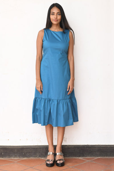 Retro Soul Back Tie up Midi Dress V3